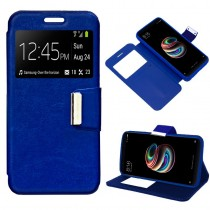 Funda compatible Alcatel Pop 4 Plus Cartera Ventana Azul