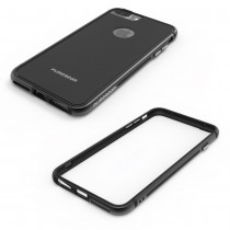 Funda carcasa Pure Gear para iPhone 7/iPhone 8 Transparente con borde en color Negro