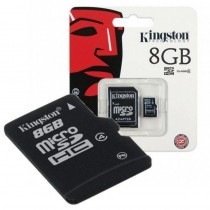 Tarjeta Memoria Kingston Micro SD Con Adaptador 8 GB Clase 4