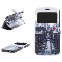 Funda compatible Alcatel Pop 4 Cartera Ventana Brookline
