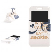 Funda compatible Alcatel Pop 4 Cartera Ventana Cookie