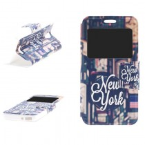 Funda compatible Alcatel Pop 4 Cartera Ventana New York