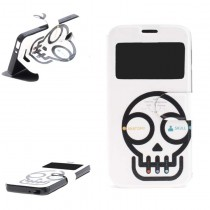 Funda compatible Alcatel Pop 4 Cartera Ventana Calavera