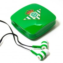 Auriculares Botón Stereo Jack 3.5 Mm Licencia Fútbol Real Betis