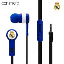 Auriculares Botón Stereo Jack 3.5 Mm Licencia Fútbol Real Madrid C.F.