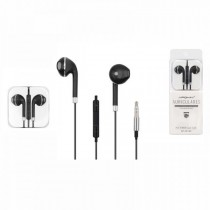 Auriculares Negros con borde Plata compatible con Android y iPhone