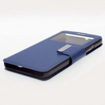 Funda compatible Alcatel Pop 4 Cartera Ventana Azul