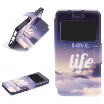 Funda compatible bq Aquaris M4.5 Cartera Ventana Love Life