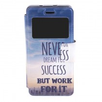 Funda compatible bq Aquaris M4.5 Cartera Ventana Never Dream