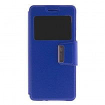 Funda compatible bq Aquaris X5 Plus Cartera Ventana Azul