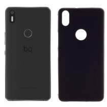 Funda compatible bq Aquaris X5 Plus Gel Mate Negra