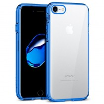 Funda Silicona con Bordes Metalizados Para iPhone 7/8 Azul