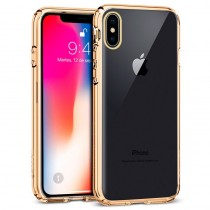 Funda Silicona con Bordes Metalizados Para iPhone XR Plata