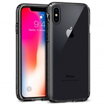 Funda Silicona con Bordes Metalizados Para iPhone X/Xs Azul