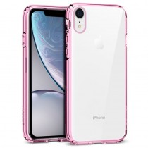 Funda Silicona con Bordes Metalizados Para iPhone XR Rosa