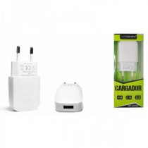 Cargador Red USB 2.1A Blanco (sin cable)