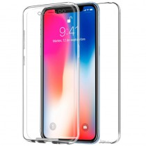 Funda Doble Para iPhone X/XS Transparente Delantera y Trasera