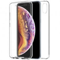 Funda Doble iPhone Xs Max Transparente Delantera y Trasera