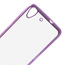 Funda compatible Huawei Ascend Y6 Ultra Thin Transparente Borde Rosa