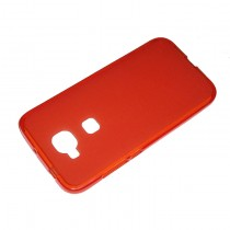Funda compatible con Huawei Ascend G8 Gel Mate Roja
