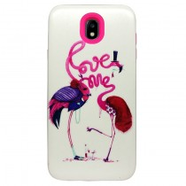 Funda compatible Samsung Galaxy J7 2017 Flamencos Love 2 en 1