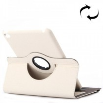 Funda compatible iPad Mini 4 Giratoria 360ª Blanca