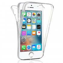 Funda compatible con iPhone 5 Gel Transparente Delantera y Trasera
