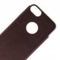 Funda Silicona para iPhone 7/8 Imitacion estilo Cuero color Marron