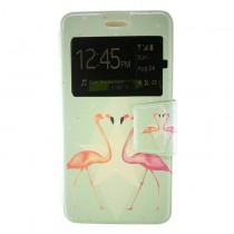 Funda compatible Wiko Jerry 2 Cartera Ventana Flamenco