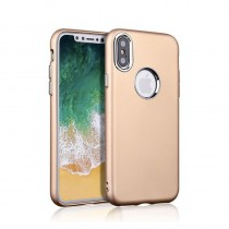 Funda iPhone X Gel Metalizada Dorada con Envío Gratis