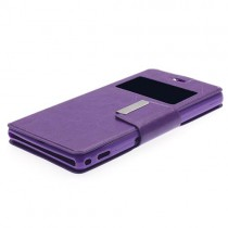Funda compatible Alcatel Pop 4 Cartera Ventana Morada