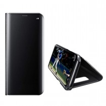 Funda Flip Cover Para Huawei Y6 2019 Clear View Negro