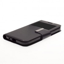 Funda compatible iPhone 7 Plus Cartera Ventana Negra