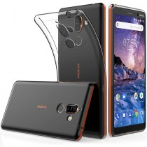 Funda compatible Nokia 7 Plus Gel Transparente