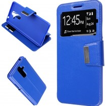 Funda compatible Nokia 7 Plus Cartera Ventana Azul