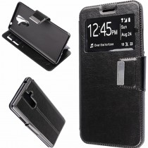 Funda compatible Nokia 7 Plus Cartera Ventana Negra