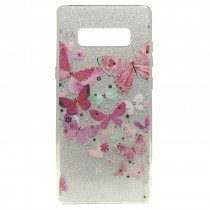Funda compatible Samsung Galaxy Note 8 Purpurina Rosas