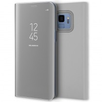 Funda Flip Cover Para Samsung Galaxy S9 Plus Clear View Plata
