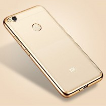 Funda compatible Xiaomi Redmi 4x UltraThin borde Dorado