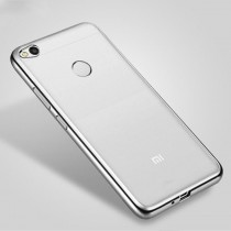 Funda compatible Xiaomi Redmi 4x UltraThin borde Plata