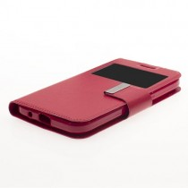 Funda compatible Alcatel Pop 4 Cartera Ventana Roja