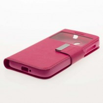 Funda compatible Alcatel Pop 4 Cartera Ventana Rosa