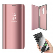 Funda Flip Cover Para Samsung Galaxy Note 8 Clear View Rosa