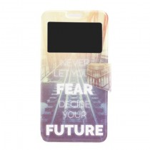 Funda Samsung Galaxy J7 2016 Cartera Ventana Fear Future