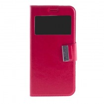Funda compatible Samsung Galaxy Note 8 Cartera Ventana Roja