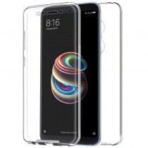 Funda compatible Xiaomi Redmi 5 Plus Transparente Delantera y Trasera Ultrathin