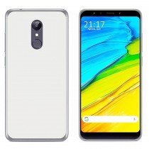 Funda compatible Xiaomi Redmi 5 Plus Gel Mate Blanco