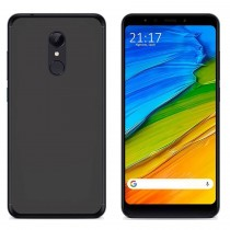 Funda compatible Xiaomi Redmi 5 Plus Gel Mate Negro