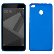 Funda compatible Xiaomi Redmi 4X Gel Mate Azul