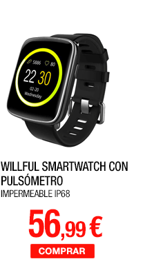 Willful Smartwatch con Pulsómetro,Impermeable IP68